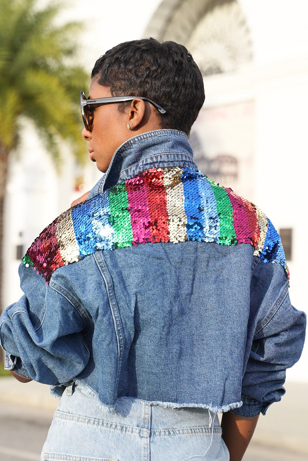 """Colorwheel"" Denim Jacket"