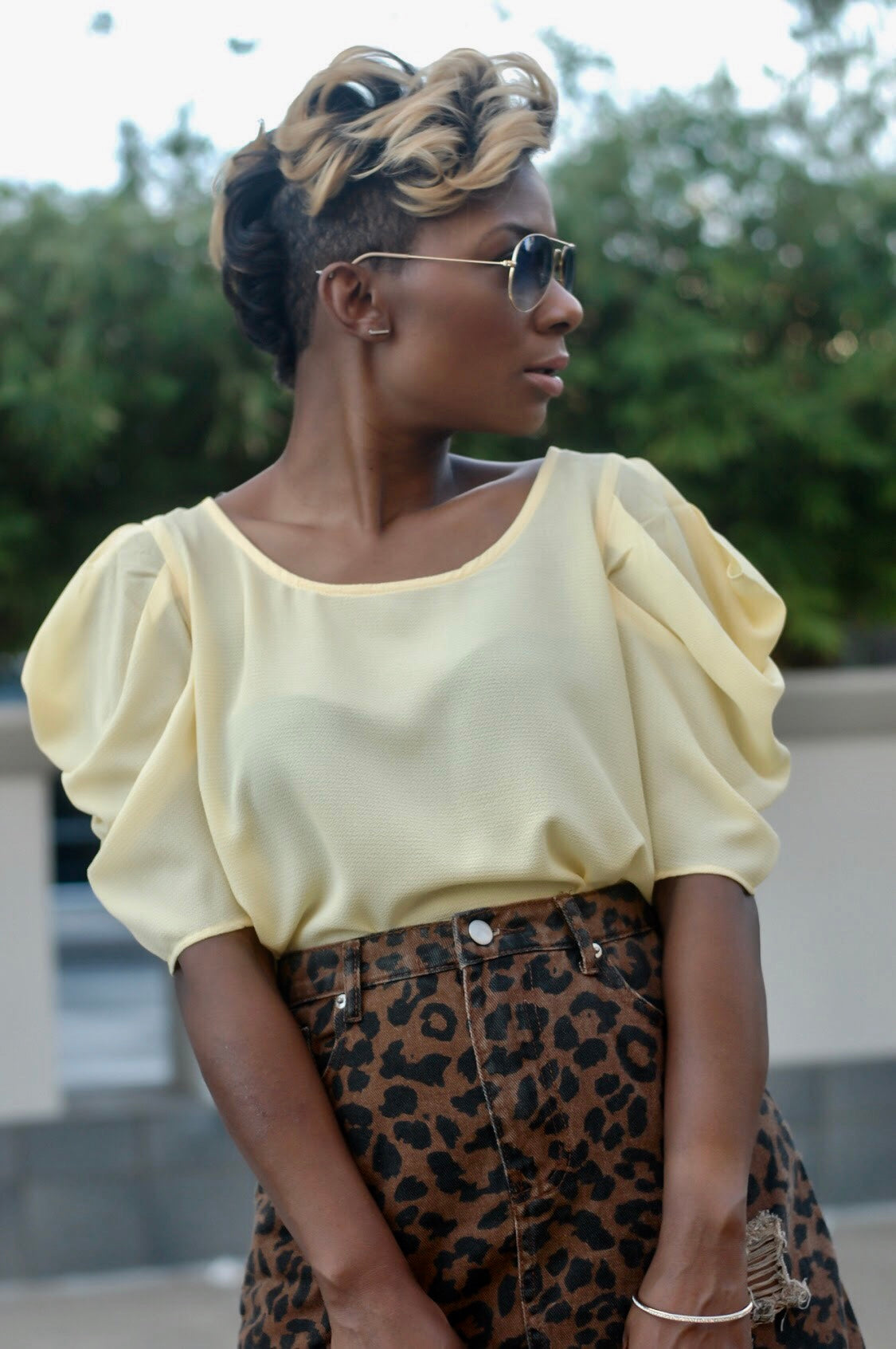 Soft Yellow Blouse