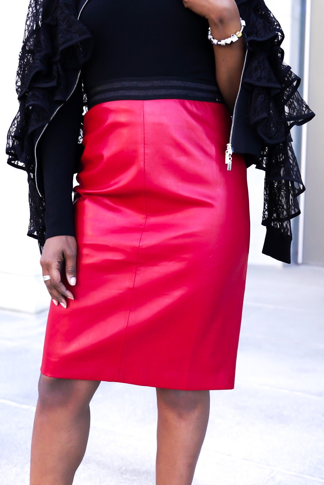 """Red Hot"" Pencil Skirt"