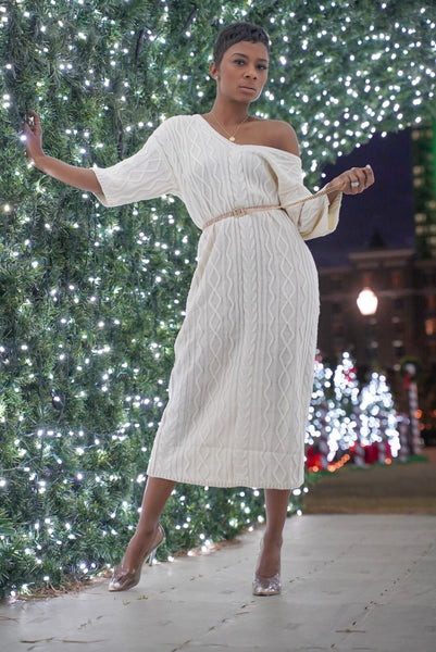 """De La Crème"" Sweater Dress"