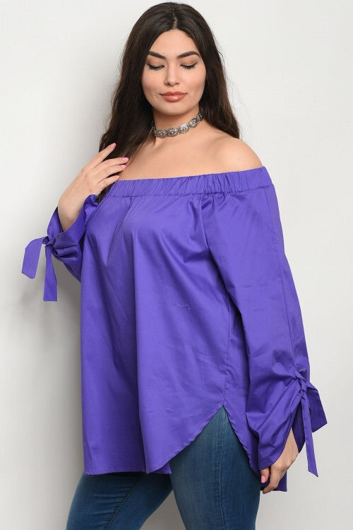 Tie Wrist Off Shoulder (Available in Curvy)