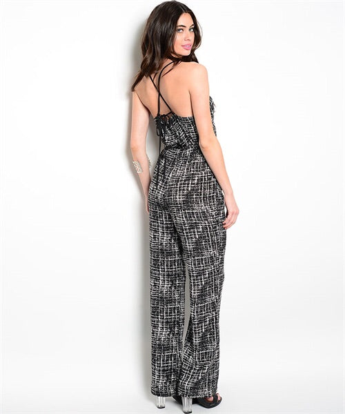 Black/White Jumpsuit