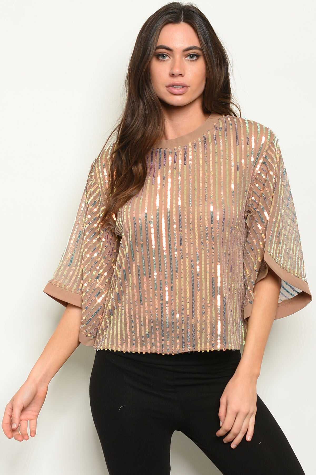 """Bedazzled"" Top (Misses & Curvy)"