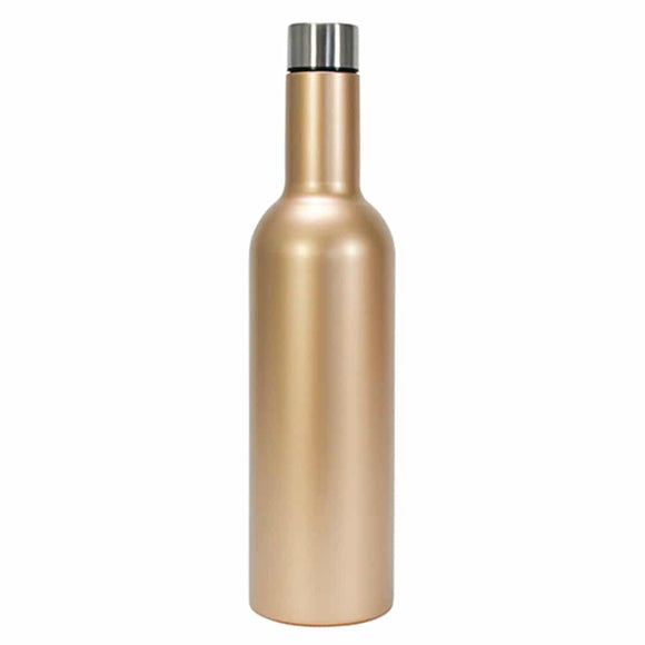 Wine Bottle Stainless Gold