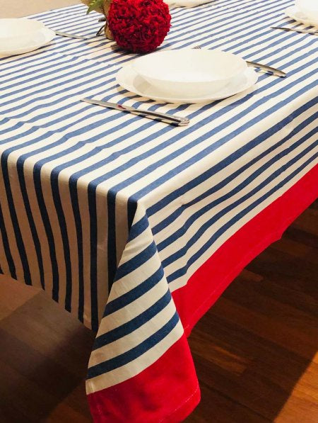 New York Red Stripe Tablecloth 150x250cm