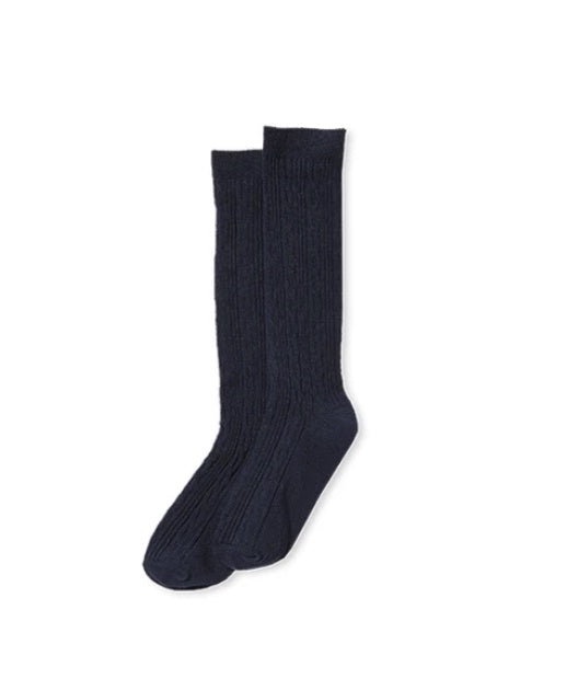 Knee High Socks Navy