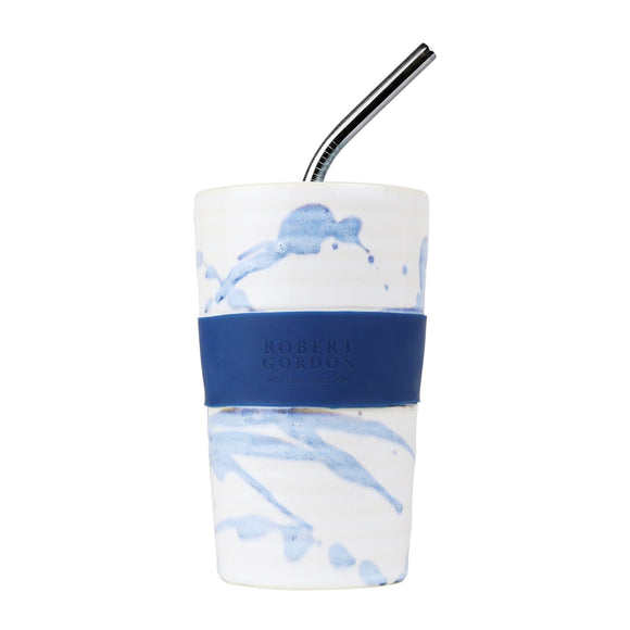 Juice Cup Blue Splatter