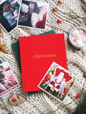Family Christmas Book Red