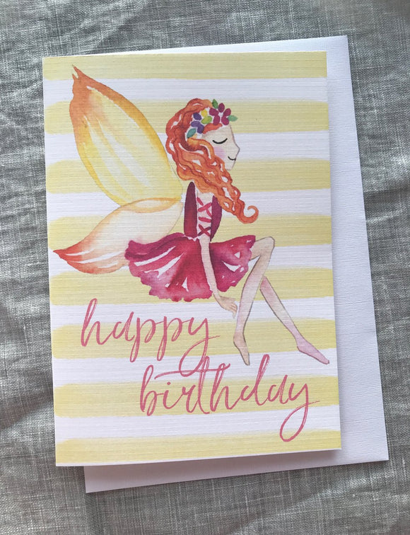 Fairy Birthday Card Lrg