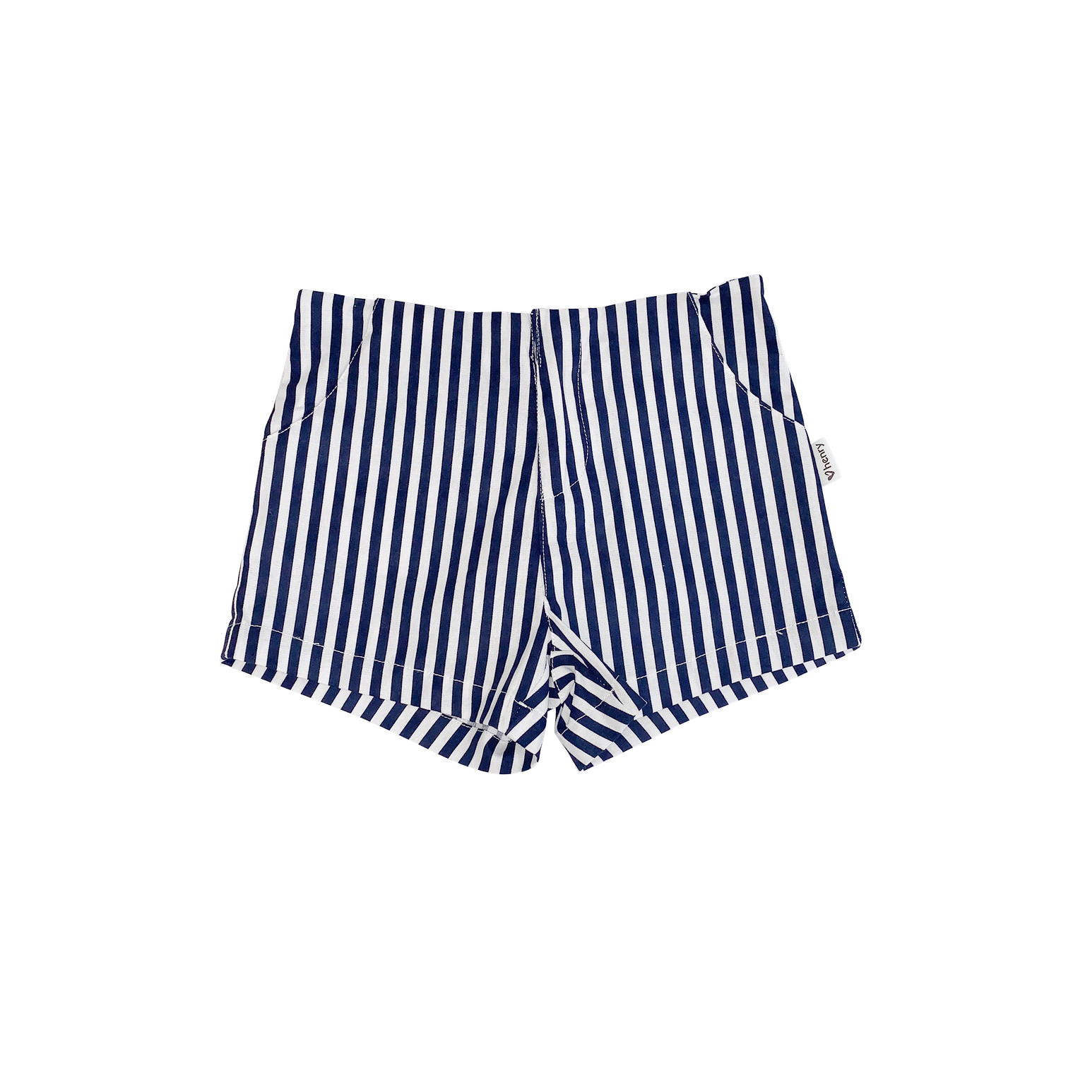 Girls Tailored Shorts Navy/White Stripe