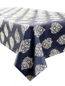 Avalon Navy Tablecloth 150x150cm Coated
