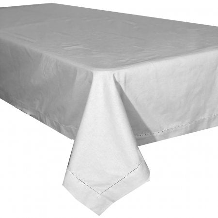 Hem Stitch Grey Table Cloth 150x250cm