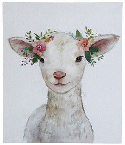 Wall Art Mini Lamb Flowers
