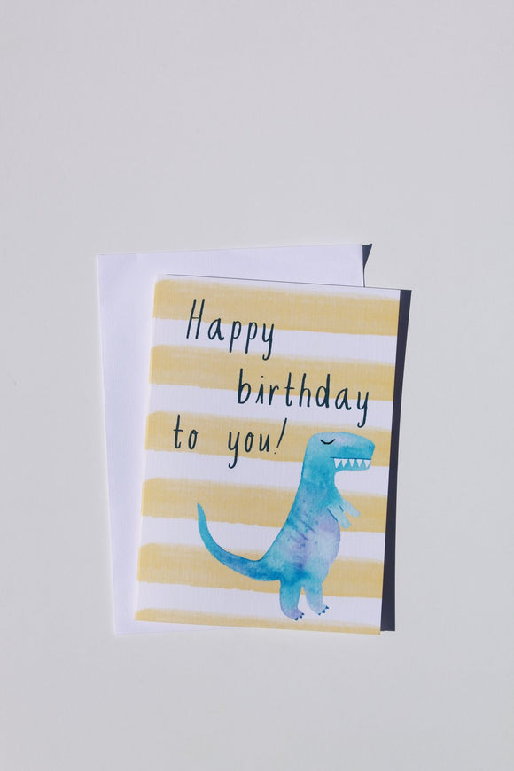 Dinosaur Birthday Card Lrg