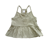 Girls Racer Back Floaty Top Dusty Olive