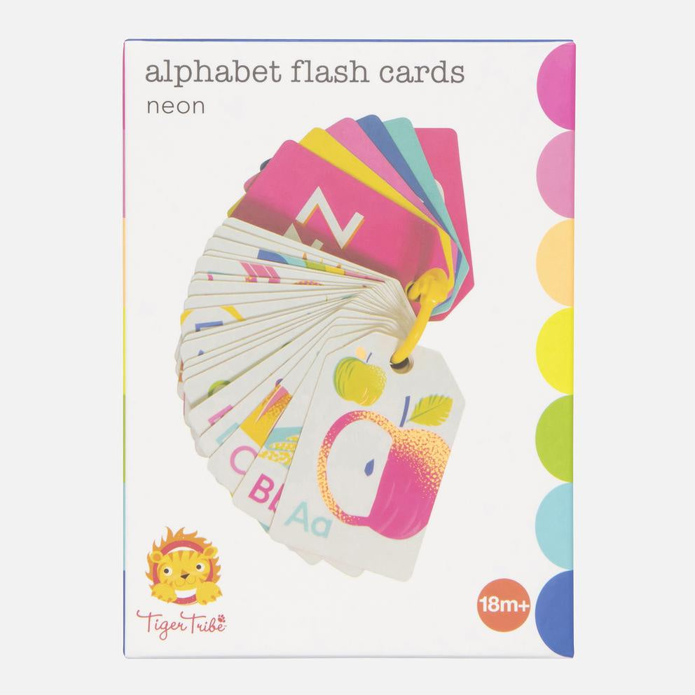Alphabet Flash Cards - Neon