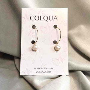 Pearl Everyday Hoop Earring