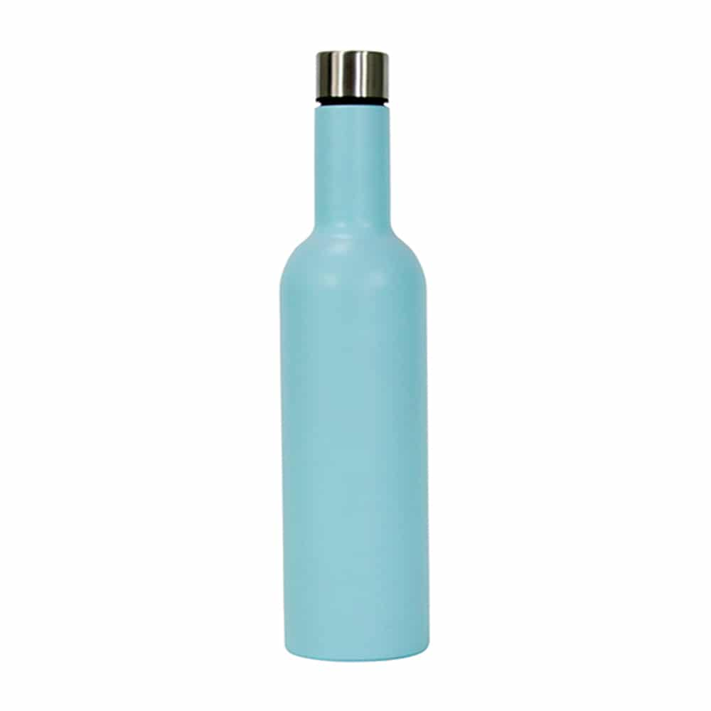 Wine Bottle Stainless Steel Blue