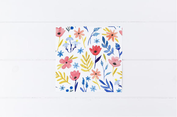 Watercolour Floral Card Sml