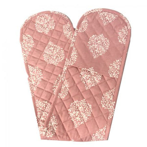 Avalon Dusty Rose Double Oven Mitt