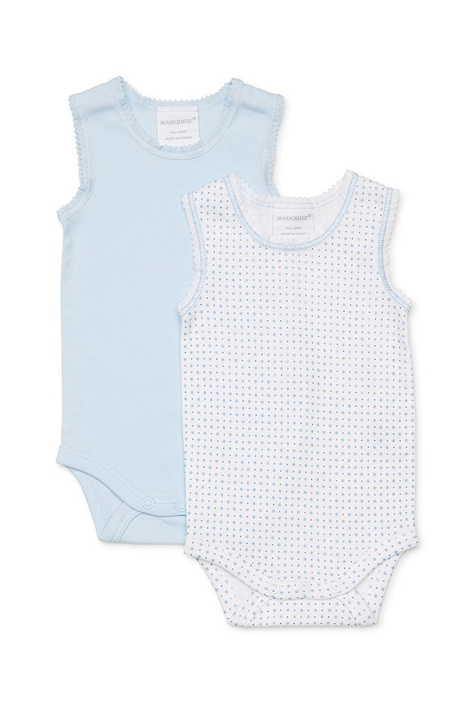2pk Bodysinglet Blue