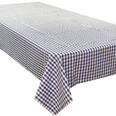 Gingham Blue Tablecloth 150x320cm