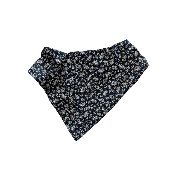 Girls Dribble Bib Navy Petite Floral