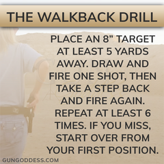 shooting gun walkback drill