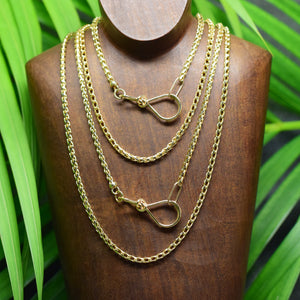 14k Gold Heavy Wheat Chain - Gold Necklace