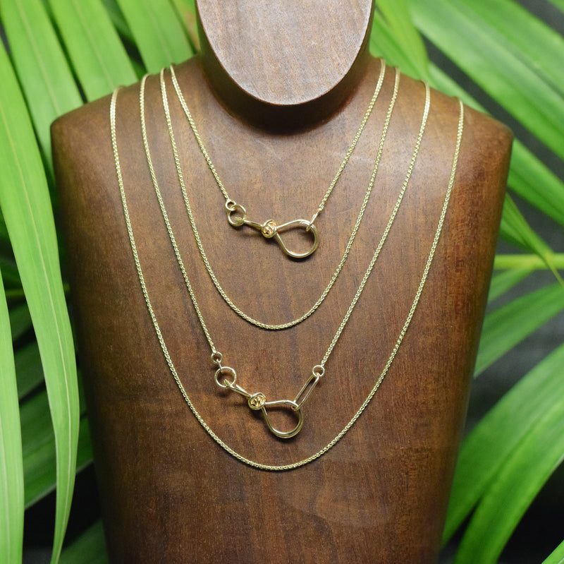 14k Gold Light Wheat Chain - Gold Necklace