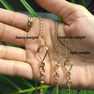 14k Gold Medium Wheat Chain - Gold Necklace