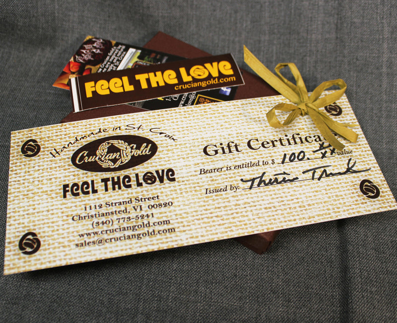 Printed Gift Certificate (To use in St. Croix store)
