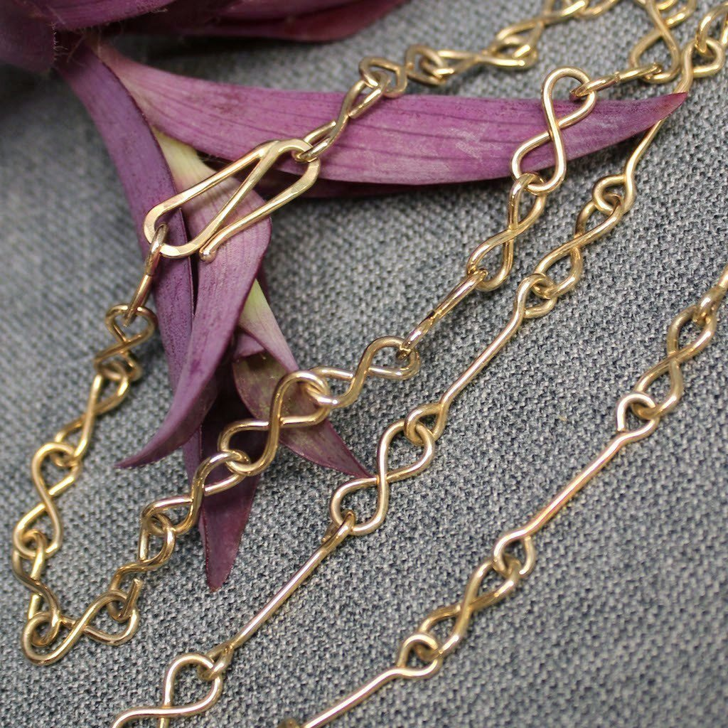 14k Gold Infinity Chain
