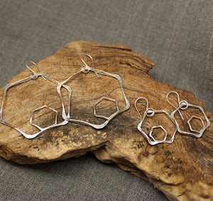 Honeycomb Sterling Silver Earrings