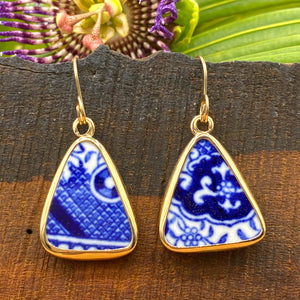 Cobalt Delight 14k Gold Earrings