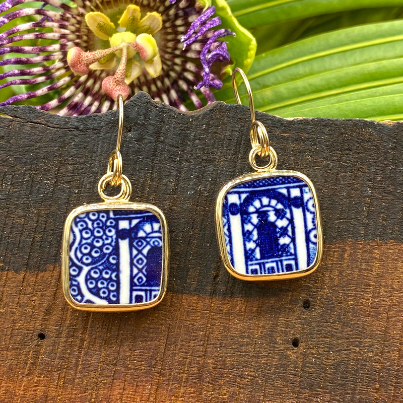 Lapis Arches 14k Gold Earrings