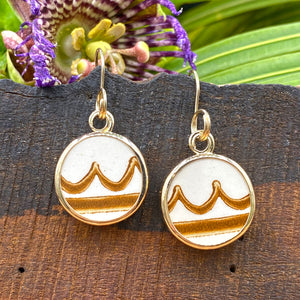 Mocha Waves 14k Gold Earrings