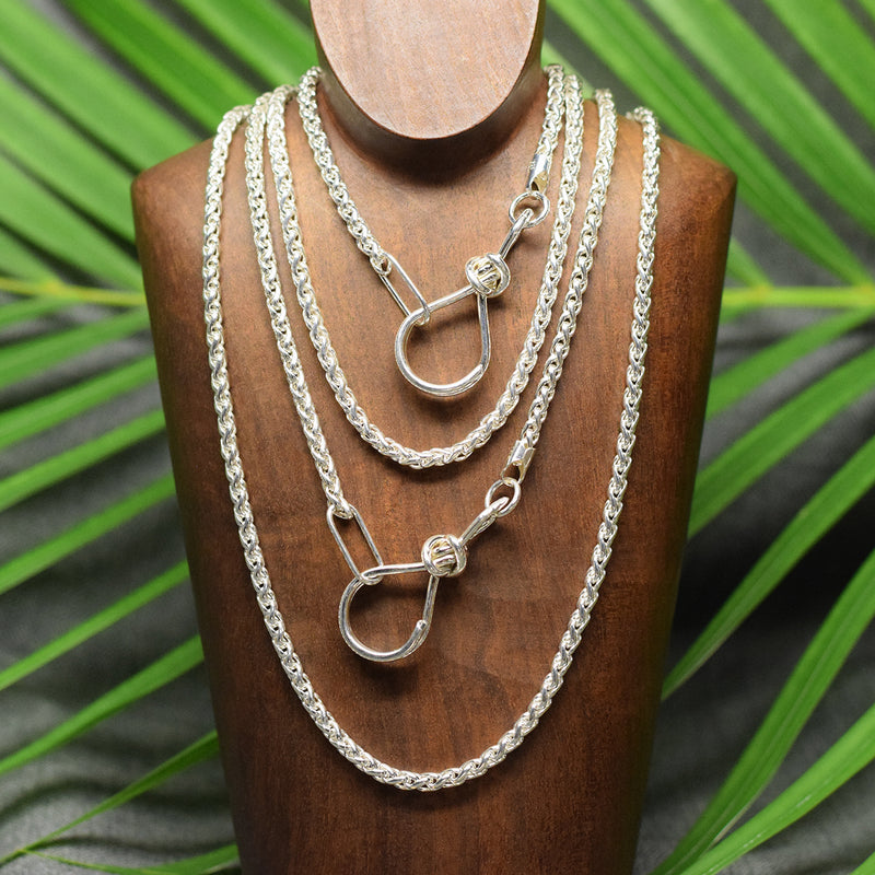 Sterling Silver Heavy Wheat Chain