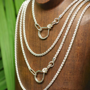 Sterling Silver Medium Wheat Chain