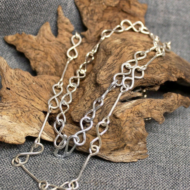 Sterling Silver Infinity Chain