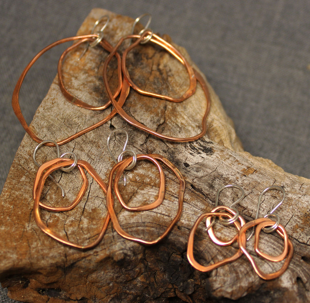 Shard Copper Drop Earrings