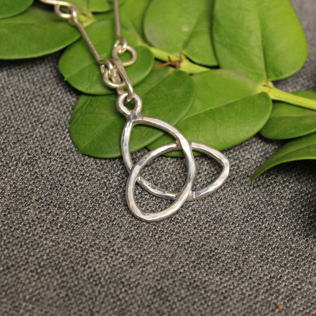 Sterling silver pendant with Trinity Knot design.
