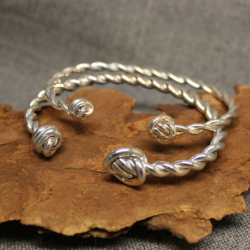 Twisted Knot Sterling Silver Cuff Bracelet