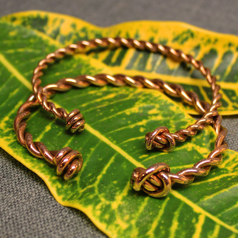 Twisted Knot Copper Cuff