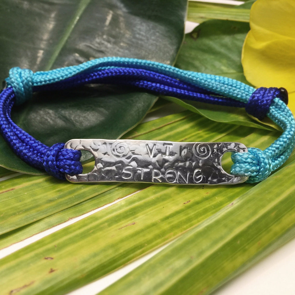 VI Strong Cord Bracelet in Blue Tones