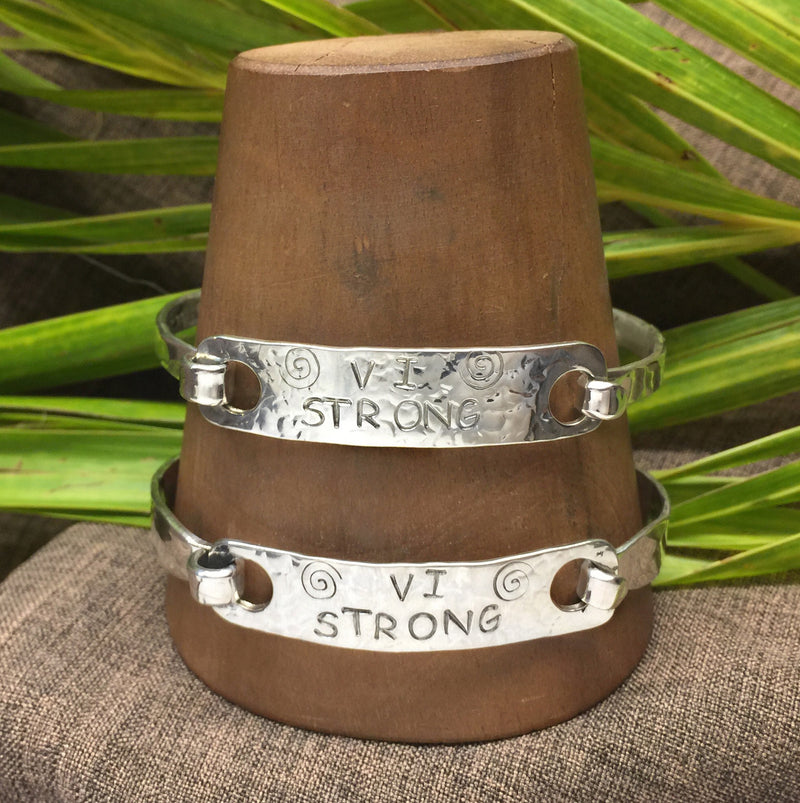 VI Strong Sterling Silver Latching Bracelet