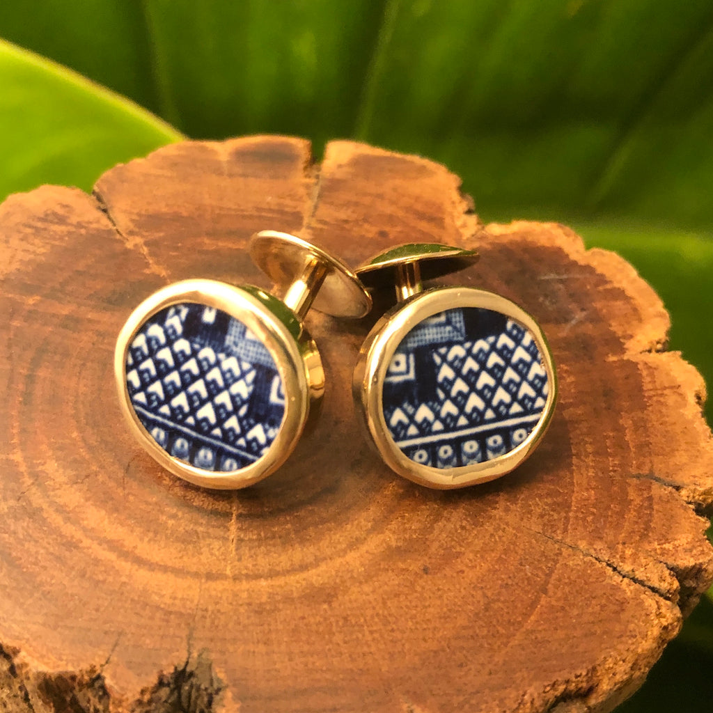 Wondrous Willow 14k Gold Chaney Cufflinks