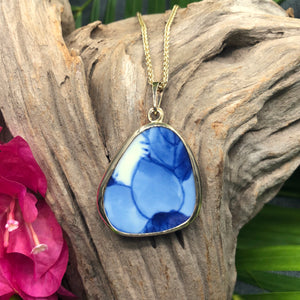 Painted Petals 14k Gold Chaney Pendant
