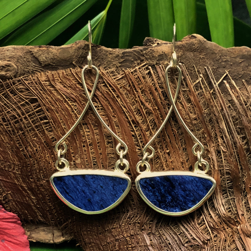 Deep Indigo 14k Gold Vessel Chaney Earrings