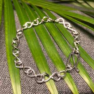 Sterling Silver Infinity Hand Chain